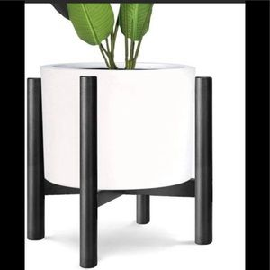 🎀New Mid Century Plant Stand-Black 🎀
